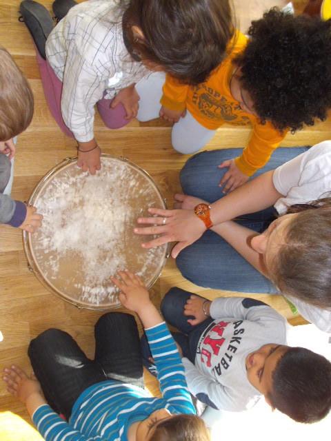 Musik von Anfang an - Kindergruppe mit Trommel